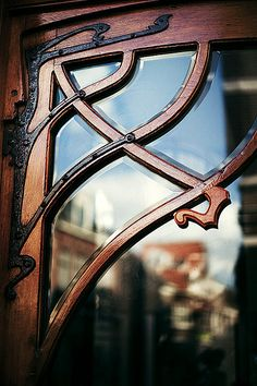 Art Nouveau Would be beautiful layered on a glass cabinet door or on a windowed front door.
