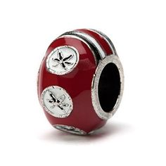 Ohio State Buckeyes 3-D SCARLET 6-Leaf Bead Charm- Fits Pandora & Others by Stone Armory -- Awesome products selected by Anna Churchill