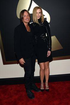 Pin for Later: Pour Voir Toutes Les Photos du Tapis Rouge des Grammy Awards, C'est Par Ici! Keith Urban et Nicole Kidman