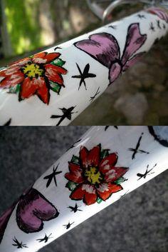 Hand Painted Flowers - Fair Wheel Bikes