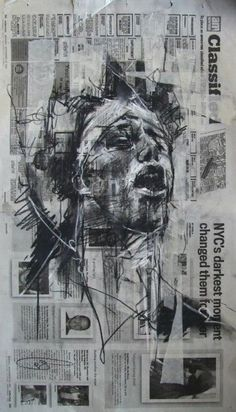 Guy Denning Sketches Occupy Wall Street // charcoal on newspaper and masking tape Portrait Art, Portraits, Nam June Paik, Political Art, Political Events, Political Views, Frida Art, Newspaper Art, Ap Studio Art