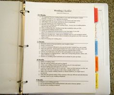 How to Make a Wedding Planning Book - A Must for Wedding Planning!