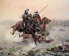 Batalla de Otumba - Augusto Ferrer-Dalmau.