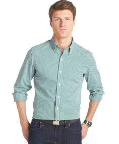 Izod Slim-Fit Gingham Shirt