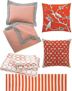 persimmon.  Love everything but the striped linens.