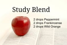 Peppermint, Frankincense, Wild Orange: a great recipe for studying.  The Wellness Choice:  http://thewellnesschoice.wordpress.com    To purchase doTERRA essential oils: http://www.mydoterra.com/thewellnesschoice/