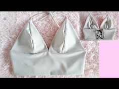 DIY   HOW TO MAKE A ALEXANDER WANG TRIANGLE BRALETTE (pattern available) - YouTube