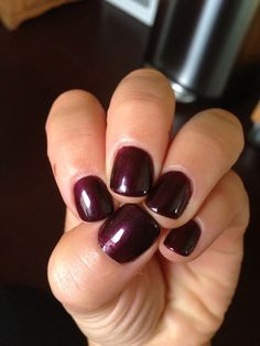Currently my favorite... Cnd shellac, Dark Lava