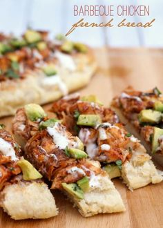 16 New Years Eve Appetizers, including this BBQ Chicken French Bread