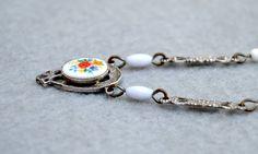 Vintage Necklace Czech Glass Set in Sterling Silver via Etsy