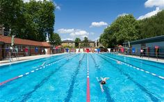 The London Fields Lido - outdoor heated swimming pool open all year round