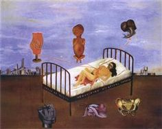 """ Henry Ford Hospital (The Flying Bed) "" - Frida Kahlo - 1932 ( Surrealismo )"