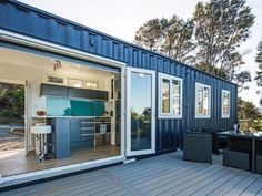 Environmentally responsible IQ Container Home *on track to achieve a 7 Homestar rating* This is an example of a 40'HC container home featuring a separate bedroom, bathroom/laundry, kitchen &