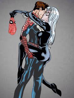 Spiderman and Black Cat by Little-thoughtz on DeviantArt Spiderman Black Cat, Spiderman Girl, Black Cat Marvel, Spiderman Movie, Spiderman Spider, Amazing Spiderman, Dc Comics Girls, Dc Comics Superheroes, Marvel Comics Art