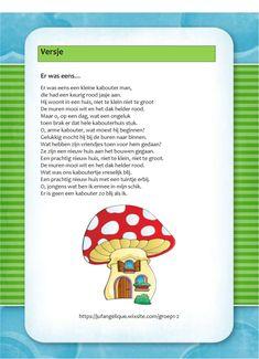 Versje: Er was eens... School, Kids, Children, Yoga For Kids, Young Children, Boys, Boy Babies, Child, Kids Part