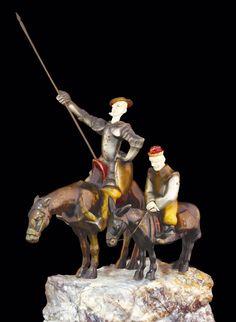 """""""Dichosa edad y siglos dichosos aquéllos a quien los antiguos pusieron nombre de dorados(...) los que en ella vivían ignoraban estas dos palabras de tuyo y mío"""" (Cervantes) Bienvenidos a Casa, a este NOSOTROS que construimos juntos cada día :-)     Criselefantina 'Don Quijote y Sancho'. Roland Paris  Fotografía: Óscar J. González Hernández  Google Art Project…"""