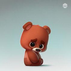 Stickers for U.S. messenger  kik. Available soon... max repost #lonely #imissu #cute #bear #cartoon #photoshop #art #artist #dmnart #character #stickers #kik