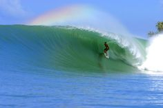 Lagundry Bay: Honestly, would you rather work today or do this - complete with rainbow.