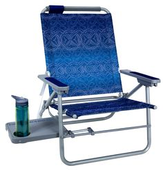 The aluminum Big Surf™ with Slide Table is all-day comfort in a beach chair. With a 4-position backrest and a padded headrest, you'll be relaxing within moments of getting to the beach. the big Surf has a hidden bonus feature built into the undercarriage – a patent pending slide-out table with a beverage holder (and room for snacks!). Folds flat for storage and travel and features the Smart-carry Shoulder Strap™ for hands-free portability. Perfect gift for someone who loves the beach!