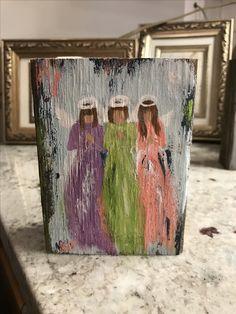 Angel Paintings, Bob Ross Paintings, Angel Drawing Easy, Spiritual Paintings, Wine And Canvas, Artist Card, Angel Art, Love Painting, Christmas Art