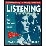 Listening The Forgotten Skill By Madelyn Burley-Allen (Second Edition) Paperback