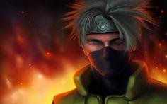 Télécharger fonds d'écran Kakashi Hatake, 4k, le feu, manga, Naruto
