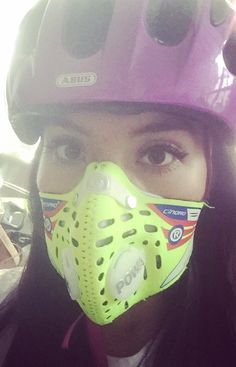 Spanish Girl using her Respro Face Mask for the first Time Scuba Diving Pictures, Mouth Mask Fashion, Spanish Girls, Respirator Mask, Half Mask, Mask Girl, White Face Mask, Jennifer Aniston, Bicycles