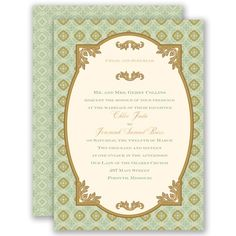 Touch of Gold - Gem - Invitation | Invitations By David's Bridal