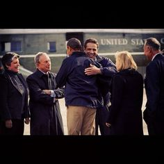 Obama Arrives to survey Sandy's damage with Governor Cuomo