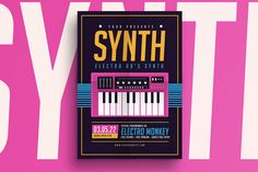 Synthesizer Music Flyer by Guuver on @creativemarket