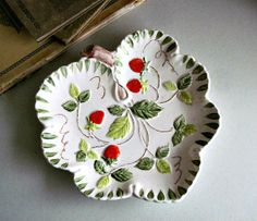 Vintage Strawberry Plate