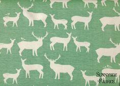 KNIT Elk Grove Elk Family Pool Birch Organic by SunnysideFabrics, $16.50
