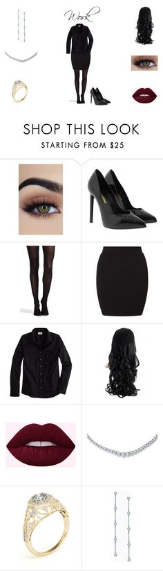 """""""Untitled #18"""" by harmonylovesbvb on Polyvore featuring Yves Saint Laurent, SPANX, Miss Selfridge, J.Crew and Elsa Peretti"""