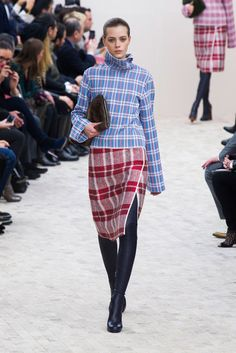 Fall 2013 Trends at Paris Fashion Week: Mad for plaid. Celine