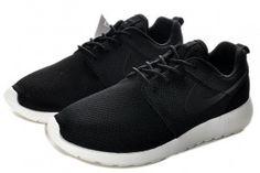 Nike Roshe Run Mesh Homme Chaussures Sport Noir/Blanc Prix Promotion En Ligne France 2015