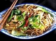 vegetarian pad thai (without the fish sauce)- this is totally worth the trip to the Asian market.