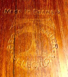 Mid-Century Danish Teak Wood Coffee Table by Grete Jalk Poul Jeppesen // Teak Danish Square Coffee Table P. Teak Wood, Bamboo Cutting Board, Danish, Mid Century, Coffee, Handmade Gifts, Table, Etsy, Vintage