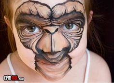ET facepaint. This freaks me out, but it's also so well done I must re-pin.