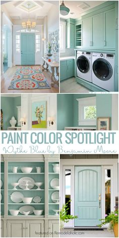 Color Spotlight: Wythe Blue from Benjamin Moore This beautiful light blue-gray paint color is so versatile! Interiors and exteriors, for cabinets, walls, and more! Blue Gray Paint Colors, Best Paint Colors, Paint Colors For Home, Paint Colours, Vintage Paint Colors, Coastal Paint Colors, Popular Paint Colors, Teal Paint, Paredes Aqua
