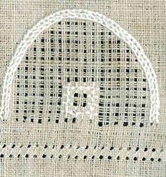 Quadrat aus 4x4 Kaestchenstichen | Rose stitch square