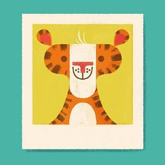 I couldn't help drawing another tiger! #illustration #tiger #geometric