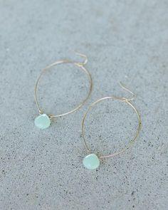 Wishing Drop Earrings - Jade