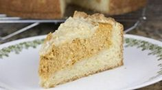 Whats better than a warm slice of coffee cake on a crisp fall day? A warm slice of coffee cake thats been filled with a creamy pumpkin pie filling.