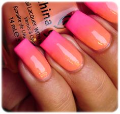 Ombre two color look love for prom #prom nails #formalapproach