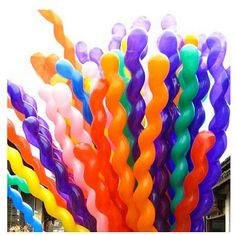 Spiral Balloons 24ct Fun Festive Colorful by MomentosEvents