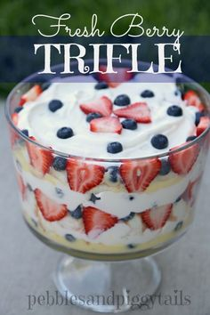 Fresh Berry Trifle on MyRecipeMagic.com - Now this is my kind of dessert!! Fruit, fruit, fruit!