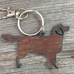 Golden Retriever Key Ring  Dog Keychain  Pet by DuctTapeAndDenim ~ Use the coupon code PIN10 and get 10% off your entire order at DuctTapeAndDenim.etsy.com