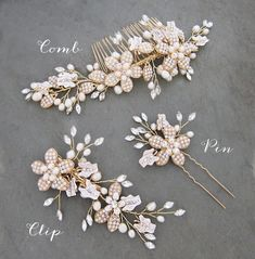 Items similar to Wedding Pearl Hair Comb, Flower Hair Vine Comb Pin Set, Wire Wedding Hair comb, Wedding Hair Vine, Boho Headpiece - 'RAINE' on Etsy Crown Hairstyles, Boho Hairstyles, Wedding Hairstyles, Boho Headpiece, Wedding Hair Clips, Hair Wreaths, Flowers In Hair, Flower Hair, Pearl Hair