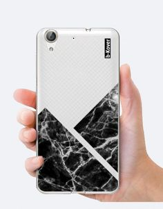 funda-movil-marmol-geometric-negro Phone Cases, See Through, Mobile Cases, Black, Phone Case