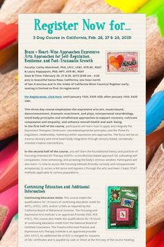Art therapy, expressive arts therapy and mindfulness in California Wine Country this February 2015...and read this newsletter for free downloadable articles from the website.